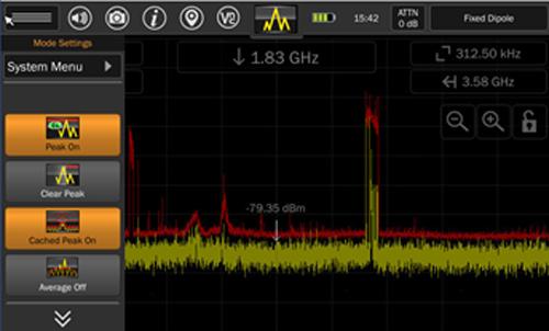 Экран Mesa в режиме сохранения спектрограммы
