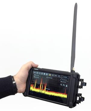 Портативный анализатор спектра Mesa в работе